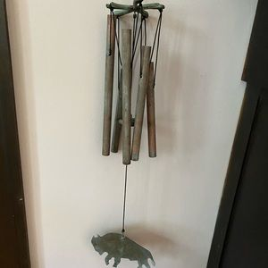 Smith & Hawken copper and brass wind chime